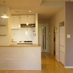 キッチン・ラベンダー壁3